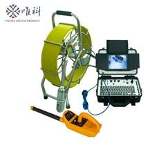Vicam 197ft длина нажимной кабель панорамирование и наклон поворот трубопровода инспекции камера с видеозаписью, счетчик V8-3388PT