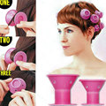 Fashion Girl 10pcs/Set No Clip Soft Silicone Hair Roller Curlers Roll Style