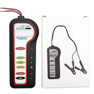 Image 3 - 12V רכב סוללה בודק אבחון כלי אלטרנטור מתח רכב רכב סוללה סורק