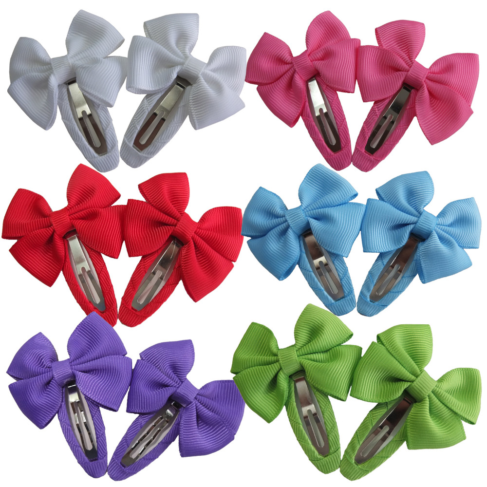 US $112.112 12 pcs Snap clips Hair bow Butterfly clamp Baby Kids Girls Cute  Hair clips Barrettes Hairbows Hairpins Hairgrips Hair accessorieshair