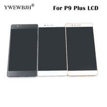 Replacement LCD For P9 Plus Display Screen with Touch Screen Digitizer with Frame Assembly Free Shipping black white gold lcd screen display touch panel digitizer with frame for blackberry 9983 p9983 black free shipping