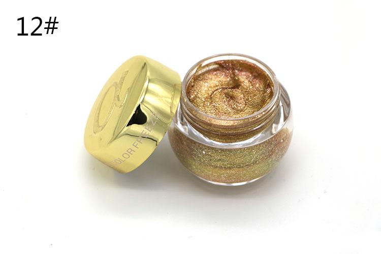 Love Alpha Single Color Eye Shadow Gel Eyes Makeup Glitter Nude Eyeshadow 16 Color EyeShadow Palette Shining Bright Brand Makeup (15)