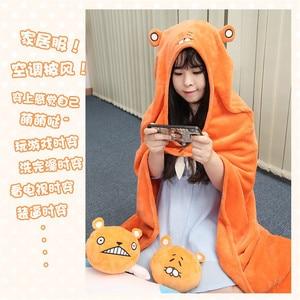 Image 4 - Himouto! Umaru chan Mantello Anime Doma Umaru Cosplay Costume Cape Casa Con Cappuccio Del Capo Coperta di Cartone Morbido Panno Cosplay CS14037