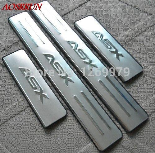 2011 2012 2013 2014 2015 2016 2017 2018 para mitsubishi asx rvr aço inoxidável scuff placa do peitoril da porta acessórios do carro-estilo