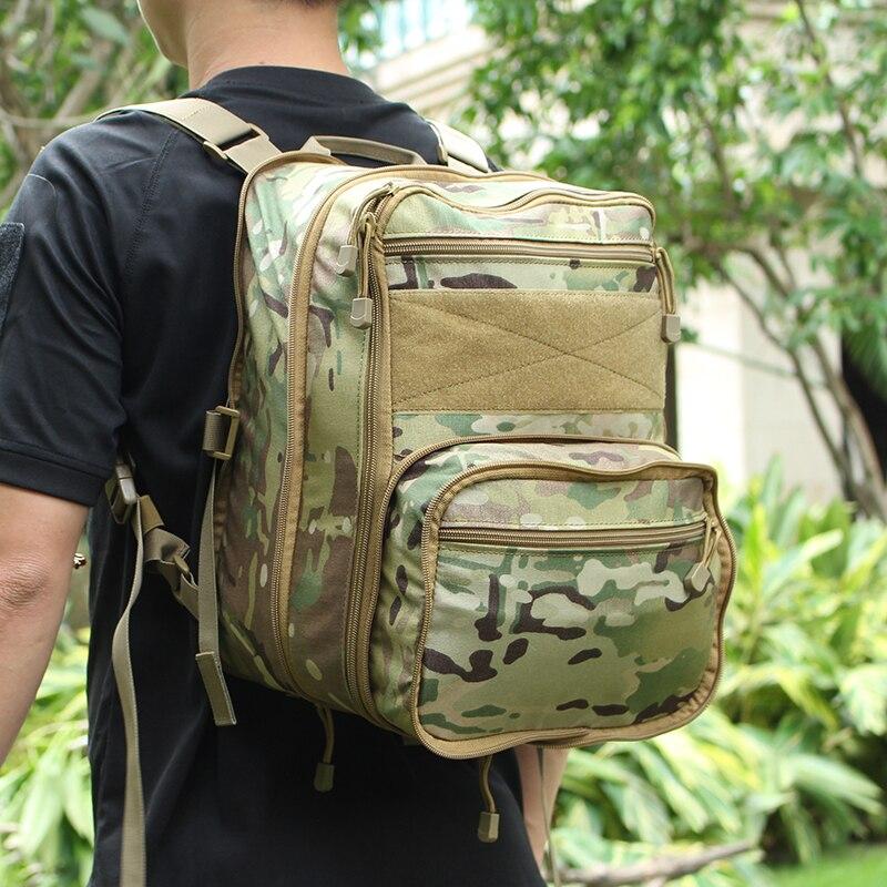 Tactifans tactique Flatpack sac à dos hydratation sac à dos poche Molle Airsoft Gear militaire polyvalent voyage sac à bandoulière