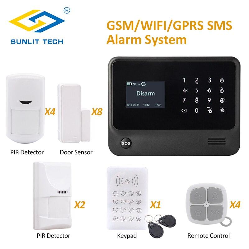 GS G90B плюс WI FI Умный дом сигнализации Системы Черный сигнализация хост Поддержка RFID сенсорной клавиатурой arm/снятия Охранной Сигнализации Си