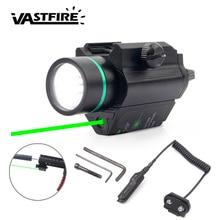 3 mode Red/Green Dot Laser Sight Pistol Picatinny Rail Rifle Hunting Optics & 200 Lumen Flashlight Combo with Compact Rail Mount