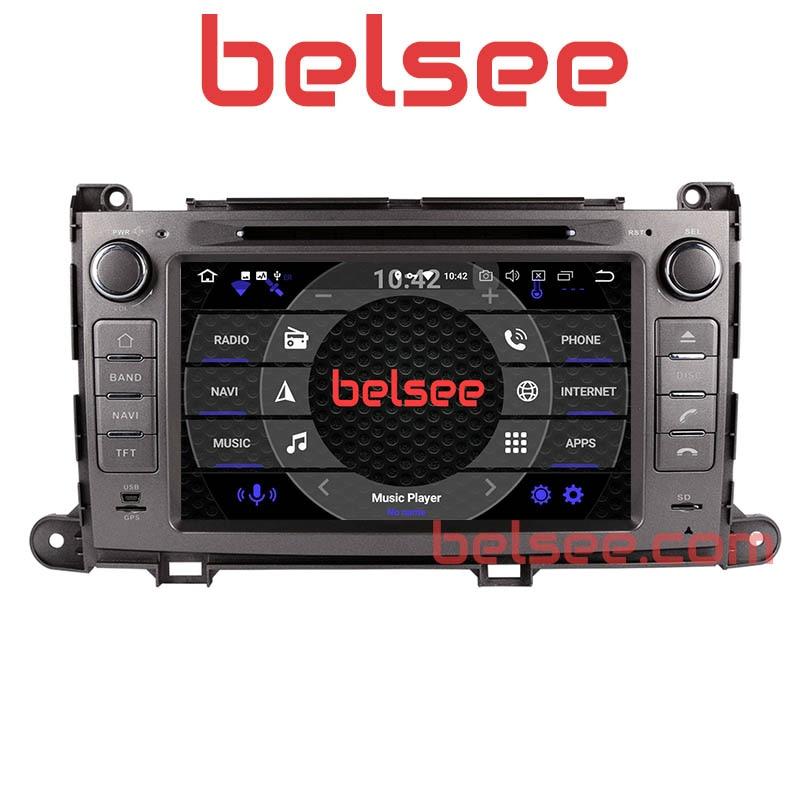 Belsee Octa Core PX5 Android 8.0 Radio Navigation GPS De Voiture Unité de Tête Stéréo pour Toyota Sienna XL30 2010 2011 2012 2013 2014 2015