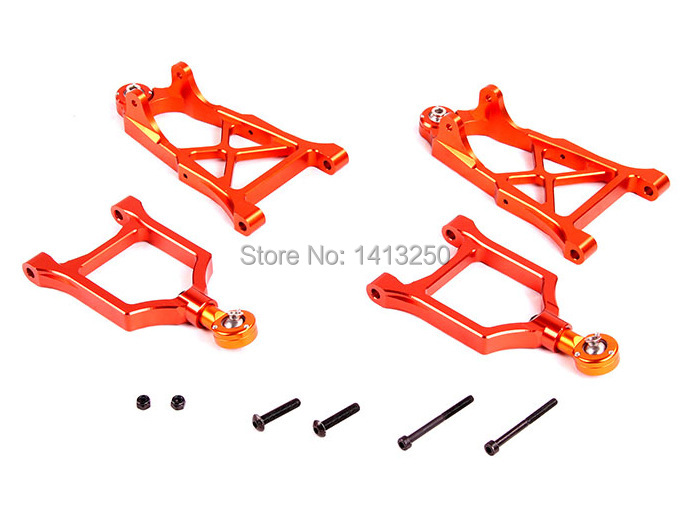 CNC metal front suspension arm set  TS-H85113 for baja parts ,sliver, orange and green choose with free shipping. new arrivals baja new suspension arm set ts h85220 for baja parts with free shipping
