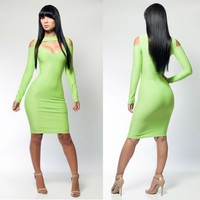 Free Ship Sexy Bandage Dress Fashion Lady Bodycon Dress Sexy Women Winter Girl Evening Casual Party