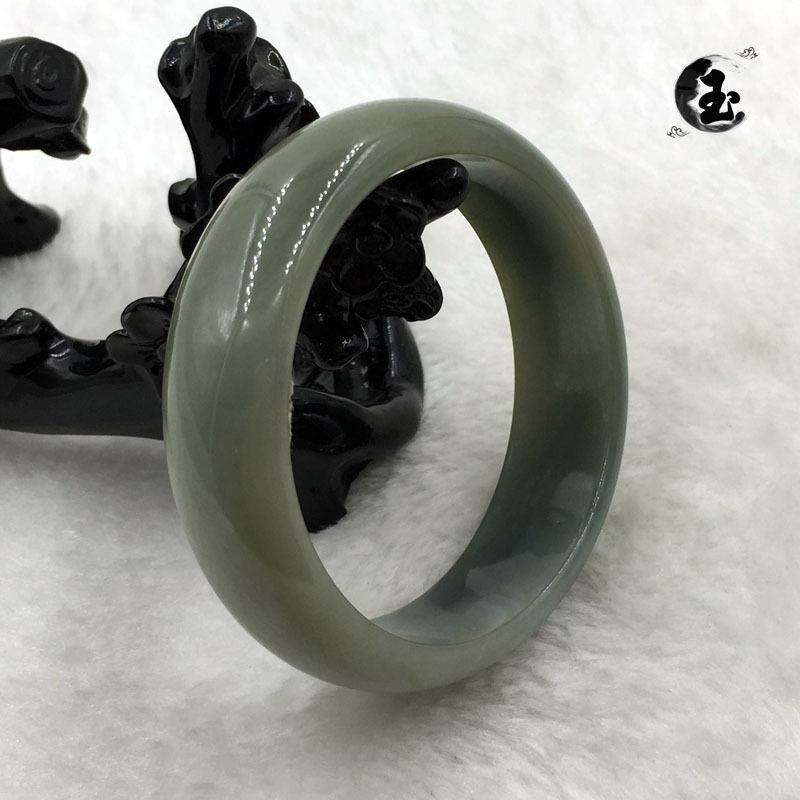 54 мм Сертифицированный класс А китайский натуральный зеленый камнем Жадеит браслет из драгоценных камней