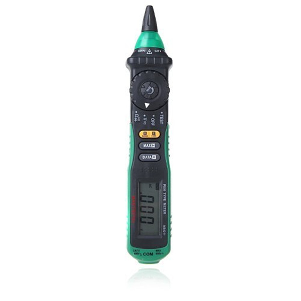 Mastech MS8211 Digital Multimeter Auto Range Pen Type Non-contact Voltage Detector Lcd display Diode Tester Diagnostic-tool mastech ms8211d pen type digital multimeter manual auto range