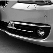 цена на Free Shipping High Quality ABS Chrome Front Fog lamps cover Trim Fog lamp shade Trim For 14-17 BMW Series 520i 528i F10 F18