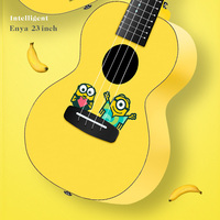 ENYA Mahogany All single wooden intelligent 23 inch Little yellow man ukulele small guitar Holiday gift