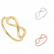 Shuangshuo 2017 New Fashion Simple Silver Infinity Rings for Women