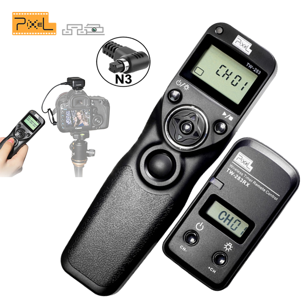 Pixel TW283 TW-283 N3 Wireless Timer Remote Control For Canon 7D 5D Mark ii 1D 6D 7D2 5D3 50D 40D 30D 10D Camera Shutter Release godox plastic wired shutter release remote cord for canon 7d 5d 5d3 5d2 more black