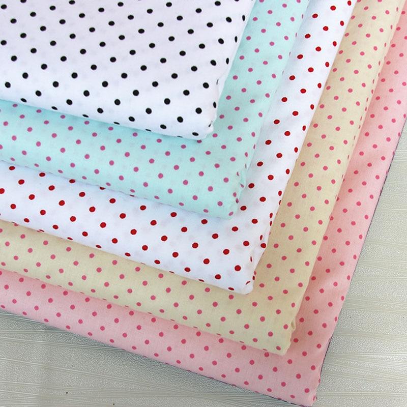100/% cotton Blue chouchou with white polka dots