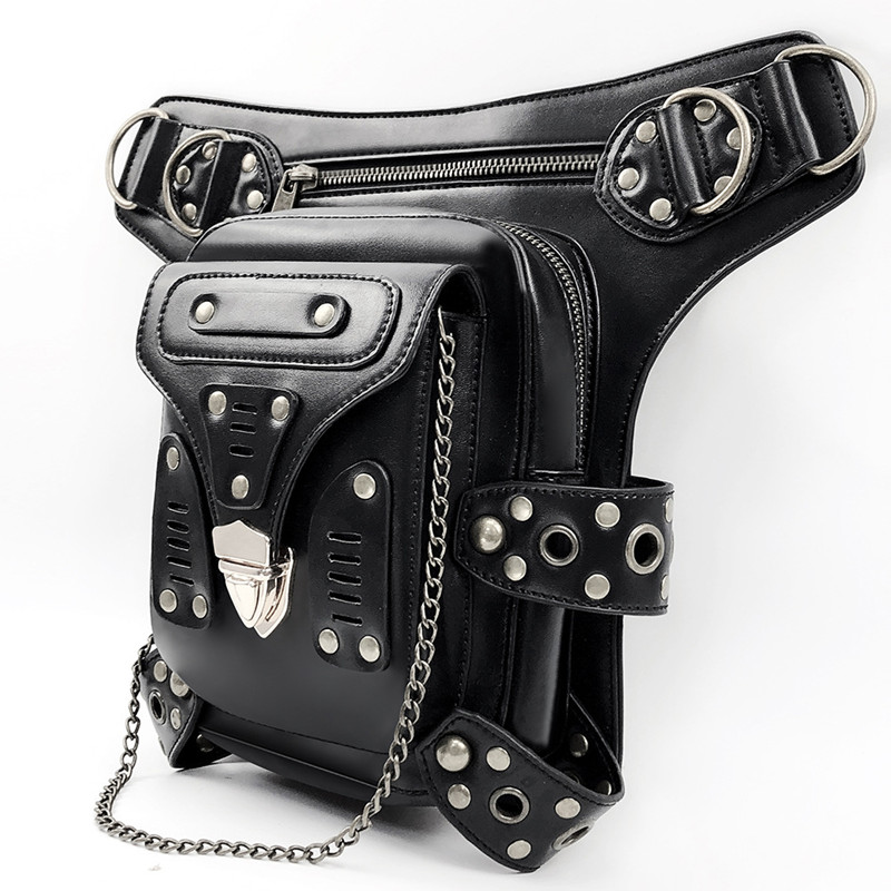 Multifunctional Woman pu Waist Rivet Chest Bag Fashion Stitching Synthetic leather Female Travel Shoulder Backpack Chain BagsMultifunctional Woman pu Waist Rivet Chest Bag Fashion Stitching Synthetic leather Female Travel Shoulder Backpack Chain Bags
