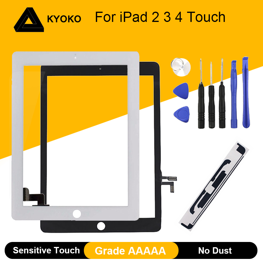AAAAA Touch Screen For IPad 2 3 4 IPad3 IPad4 A1395 A1396 A1416 A1430 A1403 A1458 A1459 A1460 Digitizer Sensor Glass Panel