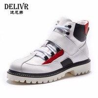 Delivr кроссовки мужская обувь с высоким берцем 2019 Модная белая Вулканизированная обувь мужская обувь для папы обувь для бега уличная мужская