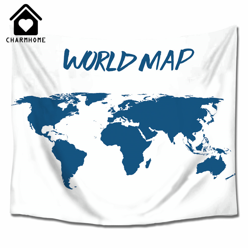 Charmhome polyester wall hanging world map tapestry vintage retro charmhome polyester wall hanging world map tapestry vintage retro throw blanket bedspread home dorm living room decoration in tapestry from home garden on gumiabroncs