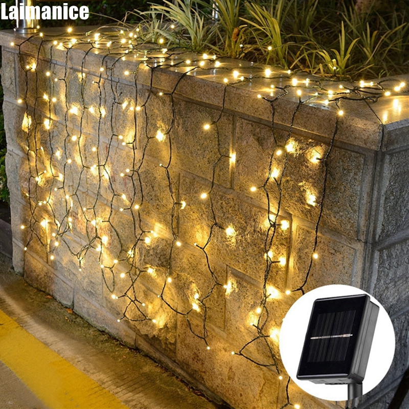 2050100200500 led outdoor solar lamp led string lights fairy holiday christmas party garlands garden waterproof decor lights