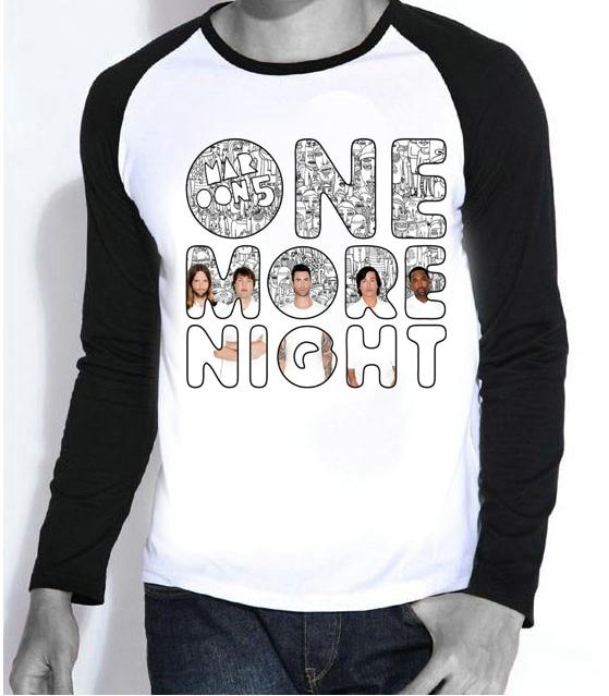 New Mens Hot Band Maroon 5 T-shirt Full Sleeve Fashion Maroon 5 Logo Top Tees tshirt For Teenages