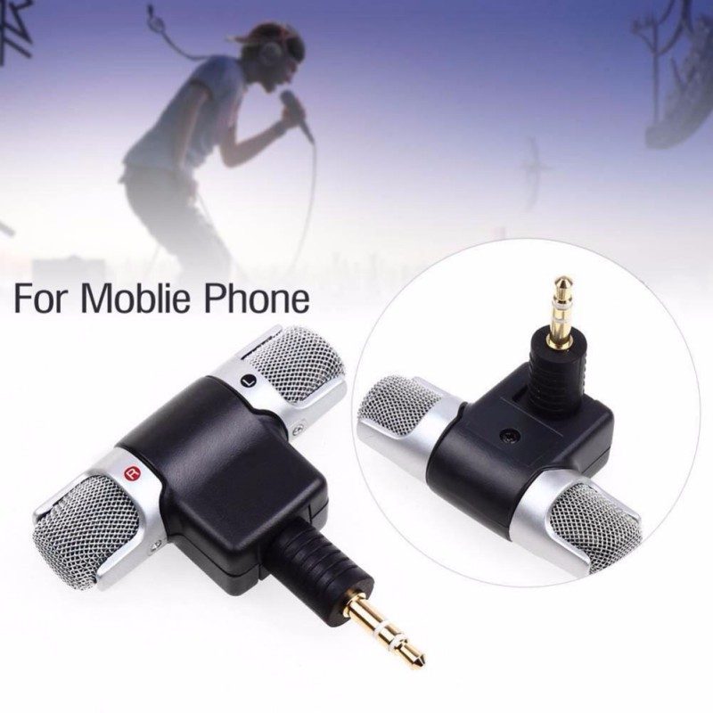 1pc Mini 3 5mm Microphone Stereo Mic For Recording Mobile font b Phone b font Studio