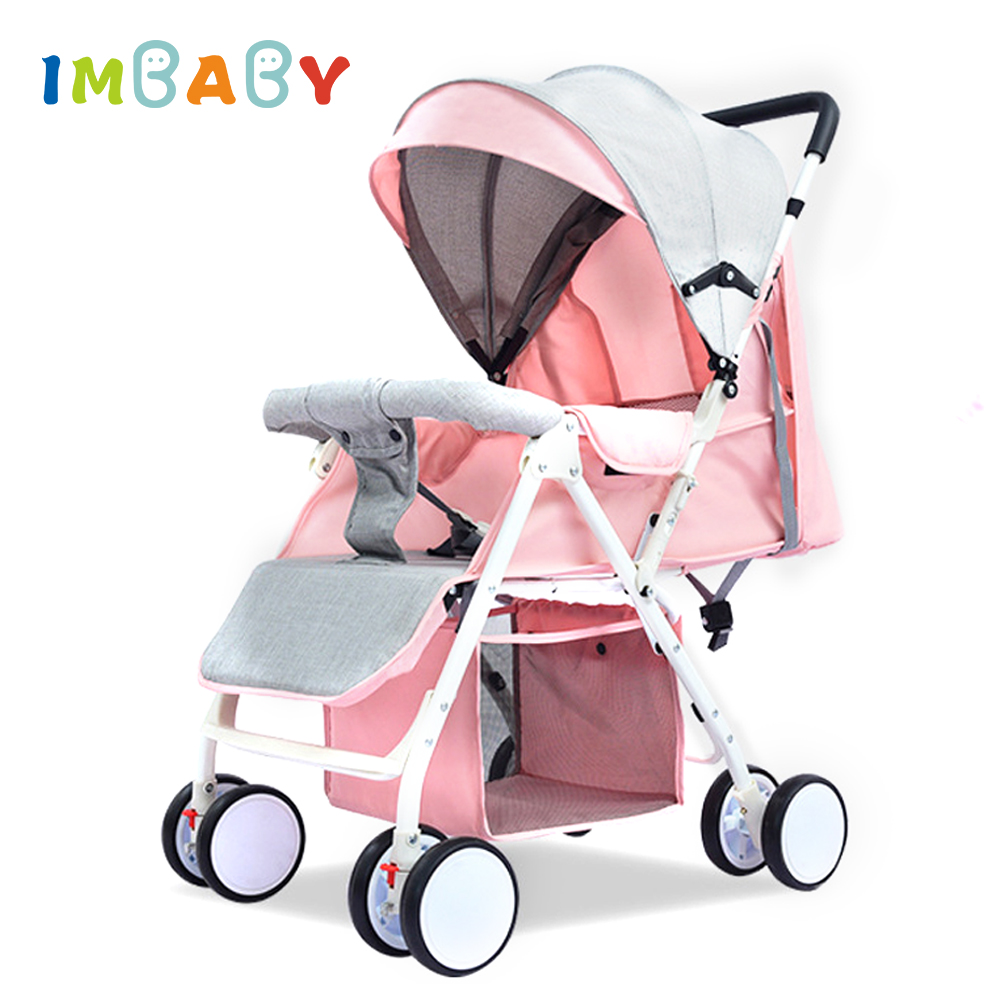 IMBABY Lightweight Baby Stroller Folding High Landscape Stroller 4 2KG Baby Carriages Baby Pram For Newborns