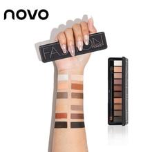 NOVO 10 Colors Matte Shimmer Eyeshadow Palette Beauty Fashion Natural Naked Make