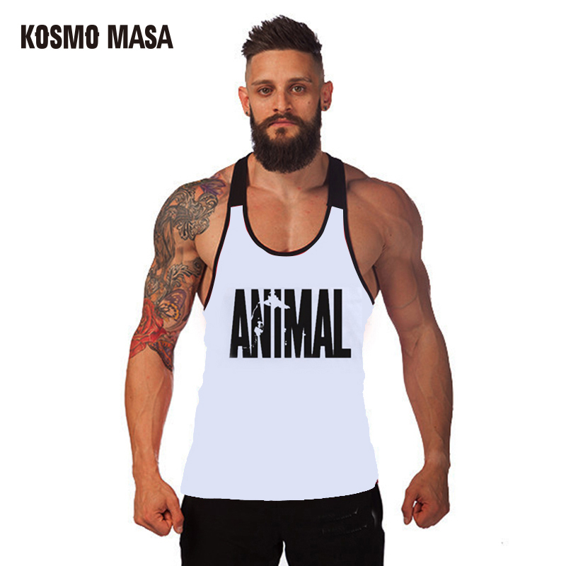KOSMO MASA 2017 Bodybuilding Fitness Patchwork Men   Tank     Top   Golds Gorilla Wear Vest Stringer Sportswear Undershirt MC0262