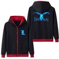 Popular Hooded Hoodie Death Note Luminous Sweatshirt Coat Hoody Sweatshirts Hoodies