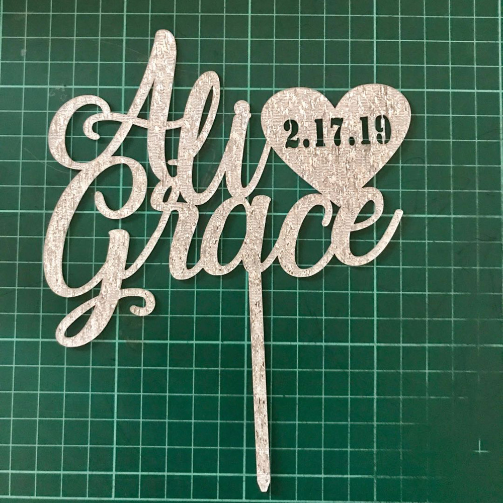 Image 3 - Personalized wedding cake topper, Custom couple names with  date cake topper, Mr and Mrs Wedding cake topper Decor Supplies-in Cake Decorating Supplies from Home & Garden