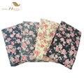 Mulheres Calças Justas 2017 Bonito Primavera Outono collant opaco Meia-calça de Alta Qualidade de Impressão Floral Padrão de Flor Azul Marinho Preto VH0001