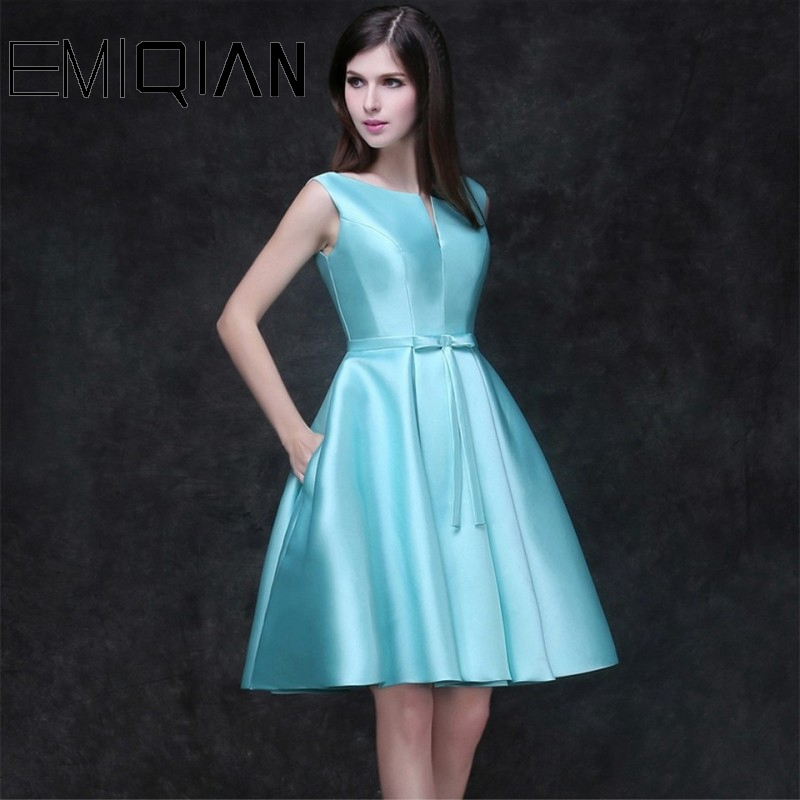 NEW Elegant Homecoming Dresses Short Graduation Gown Sky Blue Short Prom Dress