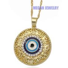 muslim turkish crystal evil eye pendant & necklace , Islam Gift & Jewelry