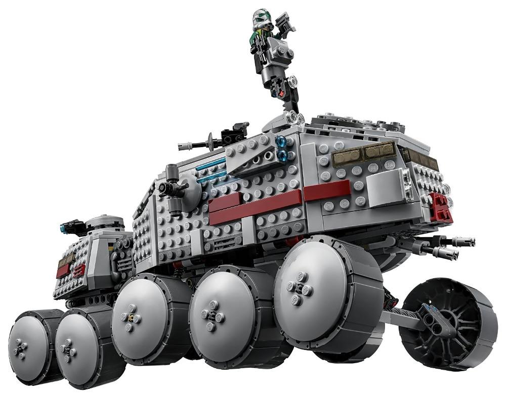 ФОТО LEPIN Star Wars Clone Turbo Tank Figure Toys Model Building Blocks set Marvel  Compatible Legoe
