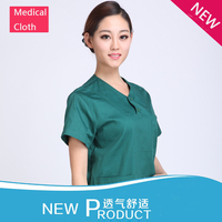 Free Shipping! Hot Selling Medical Uniforms Medical Scrubs Women Dark Green 100% Cotton for Hospital Scrubs Clothing