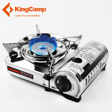 KingCamp Portable Camping Stove Stainless Steel Oven Gas Stove Outdoor Cookware for Backpacking Hiking Traveling Picnic BBQ