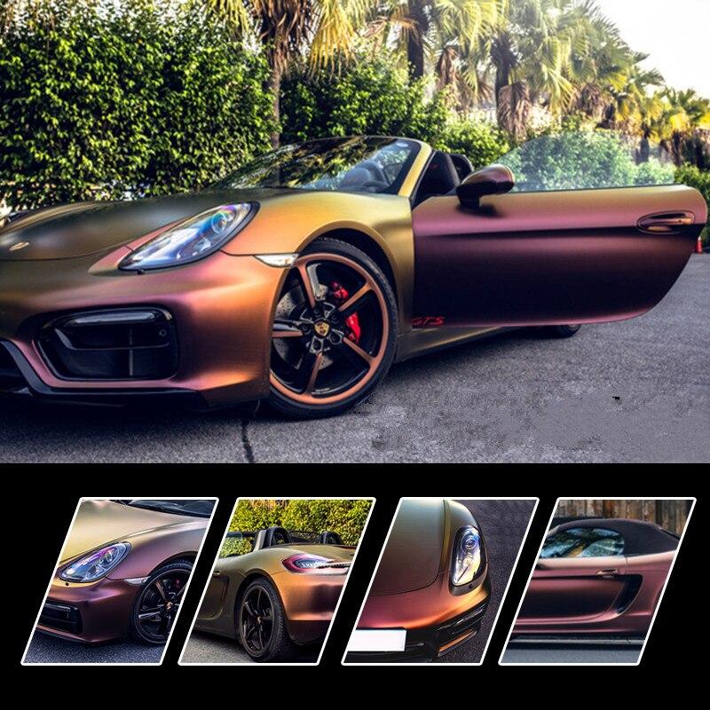 2 pièces 50*150 cm mat Film de Protection de carrosserie changement de couleur vinyle Wrap Interorier autocollant pour le style de voiture