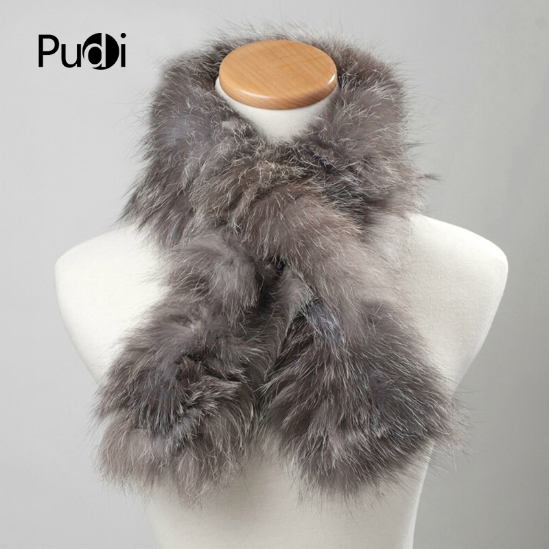 SCF012 The new fashion Genuine Winter Women Fox Fur   Scarf     Scarves     Wrap   Neck Warmer Shawl Collar