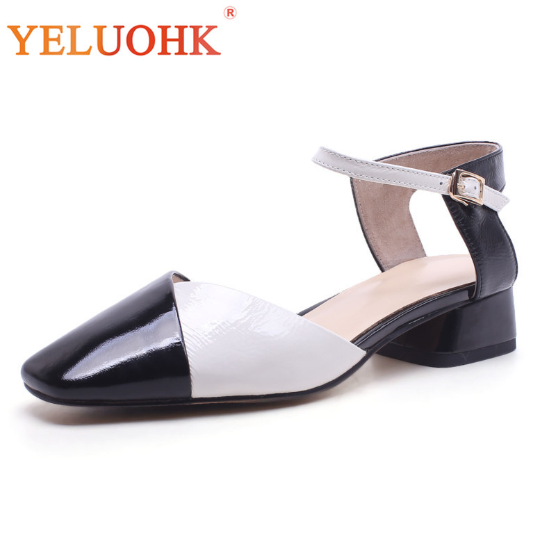 Patent Leather Women Shoes Heels High Quality Low Heel Shoes 3 CM Women Pumps 2018