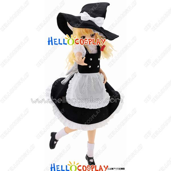 Japanese Anime Outfit Touhou Project Cosplay Marisa Kirisame Witch Dress Costume H008