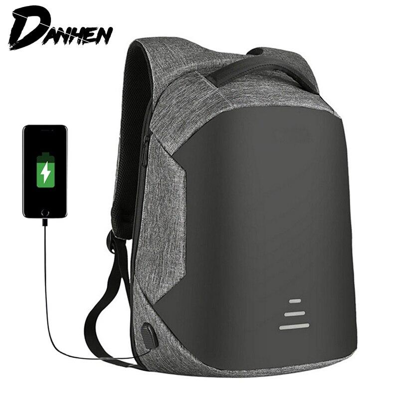 9c69703764 DANHEN Anti Theft Backpack For Men Backpacks Waterproof Bag USB Charge  Backpack 15.6 Inch Laptop Travel