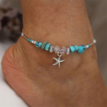 2019 Bohemian Beads Shell Ankle Bracelet for Women Leg Chain Round Tassel Anklet Vintage Foot Jewelry Accessories vintage tassel engraved round arm chain for women