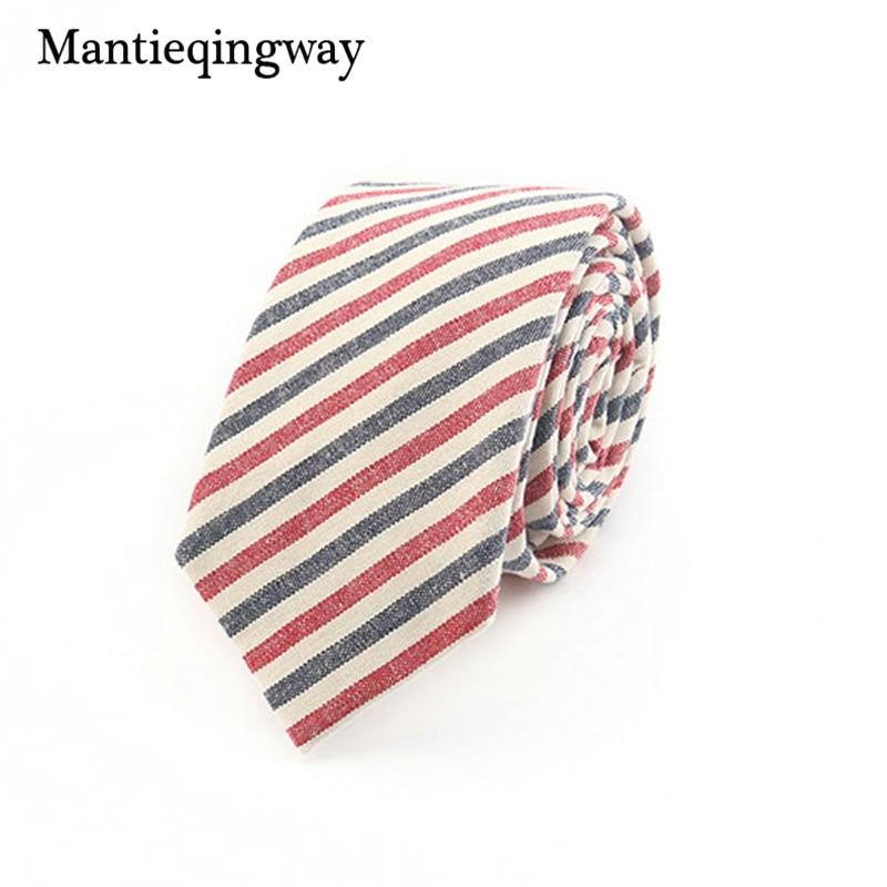 Mantieqingway Merk Plaid en Gestreepte Mannen Mager Stropdassen Mode - Kledingaccessoires - Foto 5