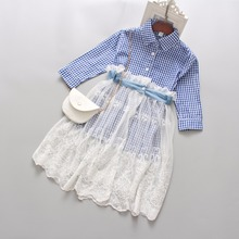 Spring Autumn Kids Girl Clothes Children New Fashion High-quality Comfortable Cotton Shirt + Skirt  Two-piece Set