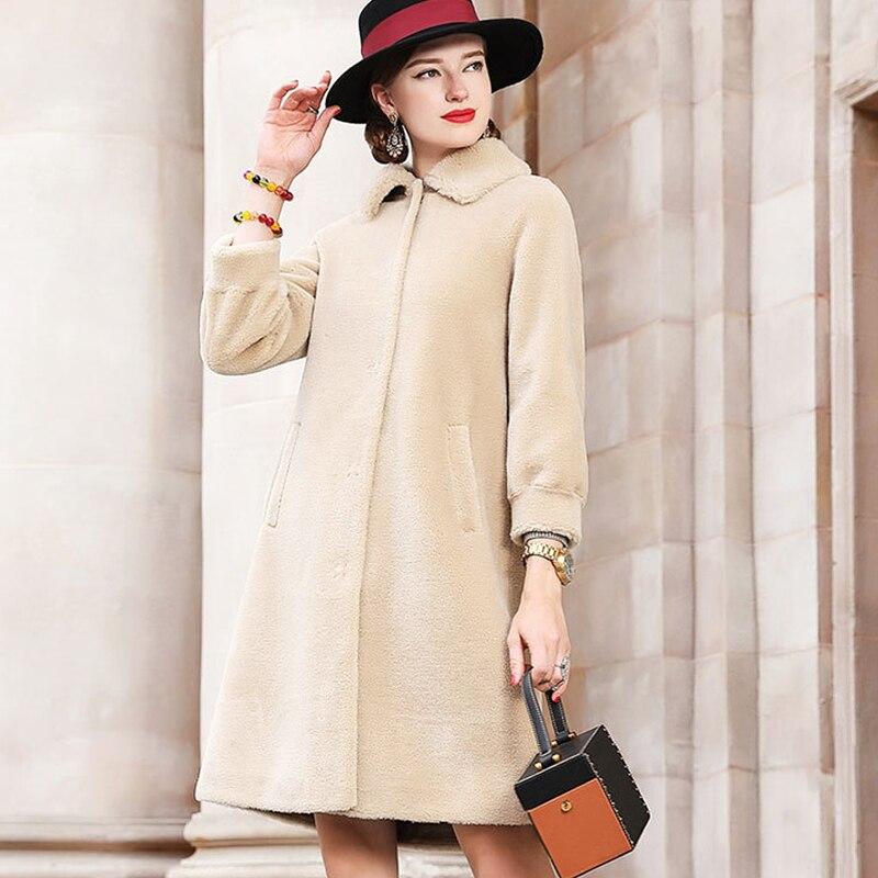 Chaud Veste Femmes Manteau 2018 beige Fourrure De Parka Blue Avec Vêtements Épais Pa47012 Long Largerlof TxvzZC