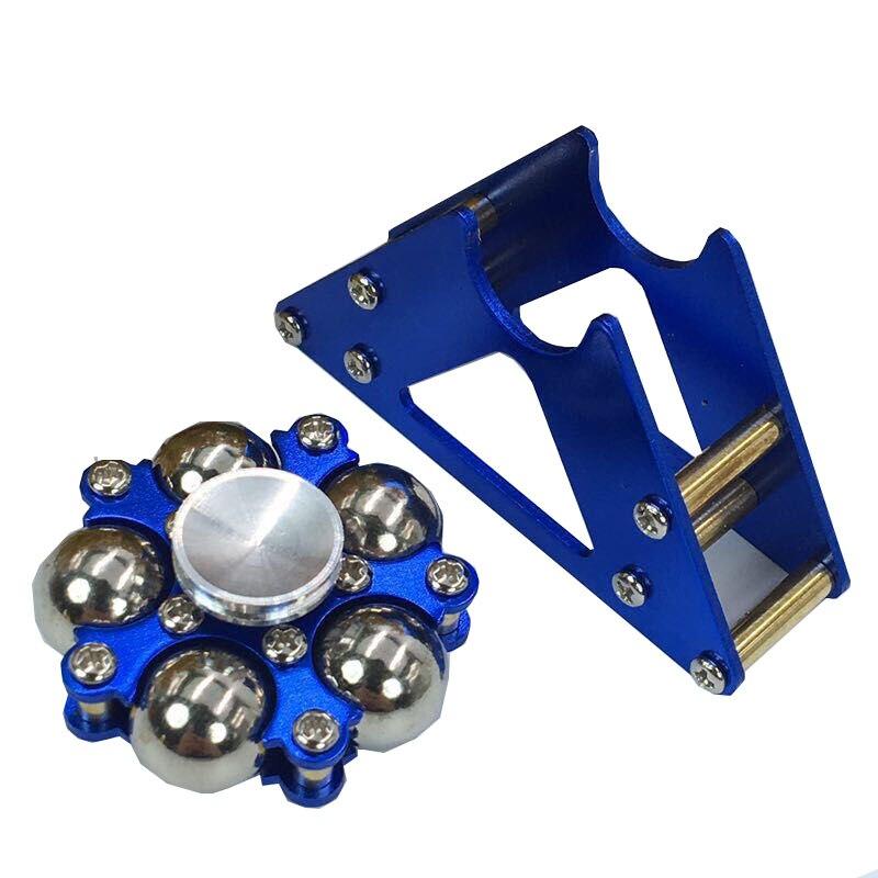 Cinco contas de Metal roda Gigante dedo giroscópio giroscópio descompressão suporte cinto EDC dedo bola de metal de aço inoxidável