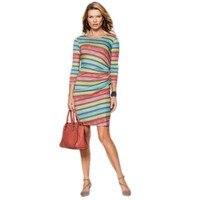 Ysmarket impresión colorida sexy summer dress tela a rayas más tamaño tienda de ropa en línea de moda de las mujeres vestidos de primavera 2017 g9